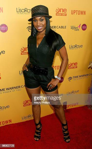 Actress Angell Conwell arrives at 'LisaRaye The Real McCoy' Premiere Screening Launch Party at The Standard Hotel on April 6 2010 in Los Angeles...