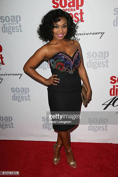 Actress Angell Conwell arrives at the 40th Anniversary of the Soap Opera Digest at The Argyle on February 24 2016 in Hollywood California