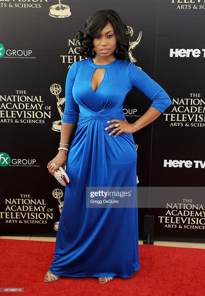 Actress Angell Conwell arrives at the 41st Annual Daytime Emmy Awards at The Beverly Hilton Hotel on June 22, 2014 in Beverly Hills, California.