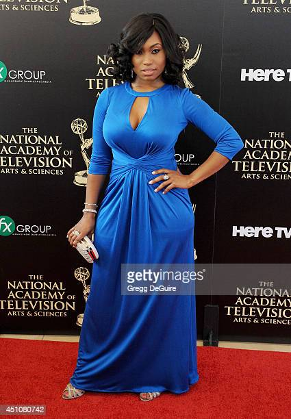 Actress Angell Conwell arrives at the 41st Annual Daytime Emmy Awards at The Beverly Hilton Hotel on June 22 2014 in Beverly Hills California