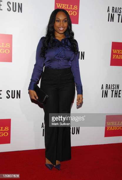 Actress Angell Conwell arrives at the west coast screening of 'A Raisin In The Sun' held on February 11 2008 in Los Angeles California