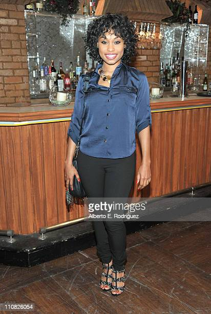 Actress Angell Conwell attend CBS' 'The Young and the Restless' 38th Anniversary cake cutting on March 24 2011 in Los Angeles California