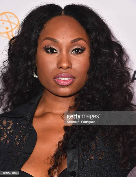 Actress Angell Conwell attends a cocktail party celebrating dynamic and diverse nominees for the 67th Emmy Awards hosted by the Academy of Television...