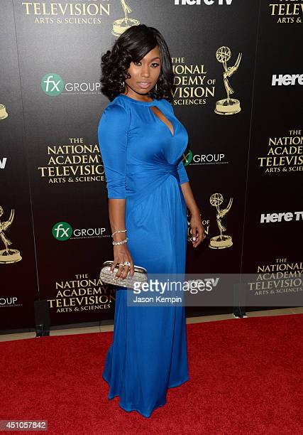 Actress Angell Conwell attends The 41st Annual Daytime Emmy Awards at The Beverly Hilton Hotel on June 22 2014 in Beverly Hills California