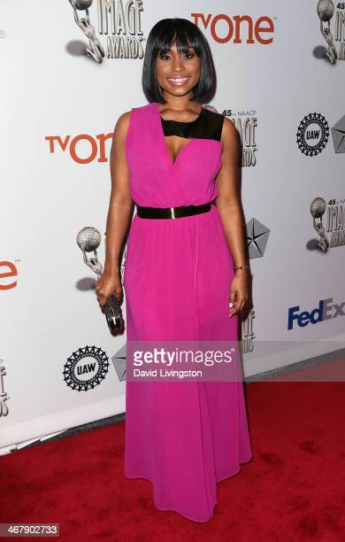 Actress Angell Conwell attends the 45th NAACP Image Awards Nominees Luncheon at Lowes Hollywood Hotel on February 8 2014 in Hollywood California