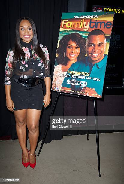 Actress Angell Conwell attends the Bounce TV Hosts Season 2 Premiere Of 'Family TIme' at TCL Chinese 6 Theatres on October 4 2014 in Hollywood...