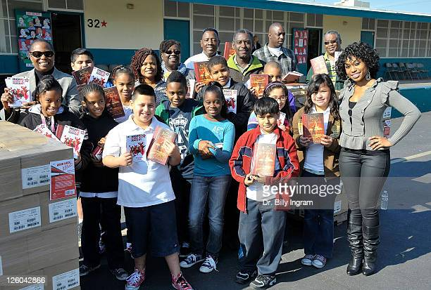 Actress Angell Conwell attends the Stephanie Stark HOPE Foundation celebrity book reading and donation on January 10 2011 in Los Angeles California