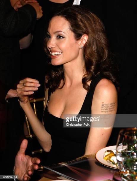 Actress Angellina Jolie inside at the 13th ANNUAL CRITICS' CHOICE AWARDS at the Santa Monica Civic Auditorium on January 7, 2008 in Santa Monica,...