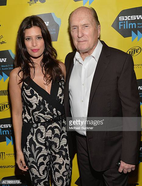 """Actress Angie Cepeda and actor Robert Duvall attends the screening of """"A Night In Old Mexico"""" during the 2014 SXSW Music, Film + Interactive..."""