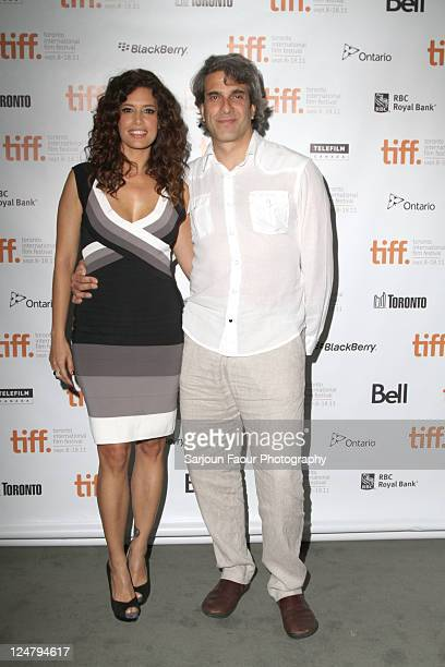 Actress Angie Cepeda and director Jose Henrique Fonseca attends Heleno Premiere at TIFF Bell Lightbox during the 2011 Toronto International Film...