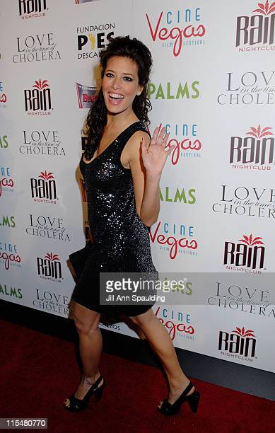 Actress Angie Cepeda arrives at 'An Evening of Love' benefitting The Bare Feet Foundation featuring a special screening of 'Love in the Time of...