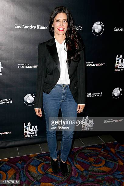 Actress Angie Cepeda attends the Elvira I'd Give You My Life but I'm Using It screening during the 2015 Los Angeles Film Festival at Regal Cinemas LA...
