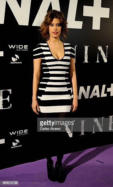 Actress Angie Cepeda attends the Nine premiere at Capitol Cinema on January 21 2010 in Madrid Spain