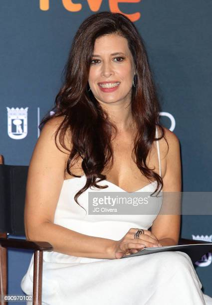 Actress Angie Cepeda attends the nominations announcement for The 4th Annual Premios Platino of Iberoamerican Cinema at The Beverly Hilton Hotel on...