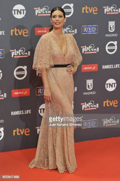 Actress Angie Cepeda attends the 'Platino Awards 2017' photocall at La Caja Magica on July 22 2017 in Madrid Spain