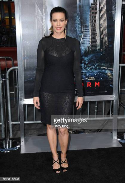 Actress Angie Cepeda attends the premiere of Warner Bros Pictures' 'Geostorm' at TCL Chinese Theatre on October 16 2017 in Hollywood California