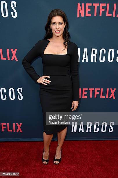 Actress Angie Cepeda attends the Season 2 premiere of Netflix's Narcos at ArcLight Cinemas on August 24 2016 in Hollywood California