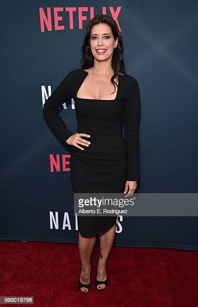 Actress Angie Cepeda attends the Season 2 premiere of Netflix's 'Narcos' at ArcLight Cinemas on August 24 2016 in Hollywood California