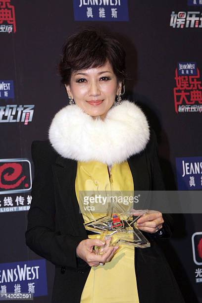 Actress Angie Chiu attends the Enlight Media Awards Ceremony at Renmin University on March 28 2012 in Beijing China