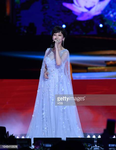 Actress Angie Chiu performs onstage during the 2018 CCTV MidAutumn Festival gala at Mount Ni on September 24 2018 in Jining Shandong Province of China