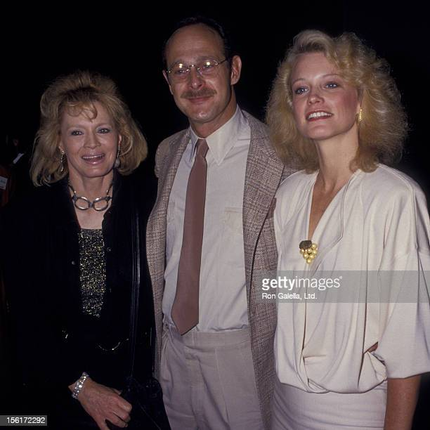Actress Angie Dickinson actor Gerald McRaney and actress Shelley Hack attend 24th Annual Publicist's Guild of America Awards on March 27 1987 at the...