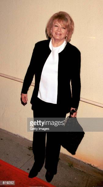 Actress Angie Dickinson attends the Spago closing party hosted by celebrity chef Wolfgang Puck and his wife Barbara Lazaroff March 28 2001 in West...