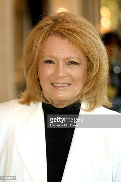 Actress Angie Dickinson poses at the 9th Annual Hollywood's Women of Distinction Awards October 17, 2001 in Universal City, CA. Dickinson is being...