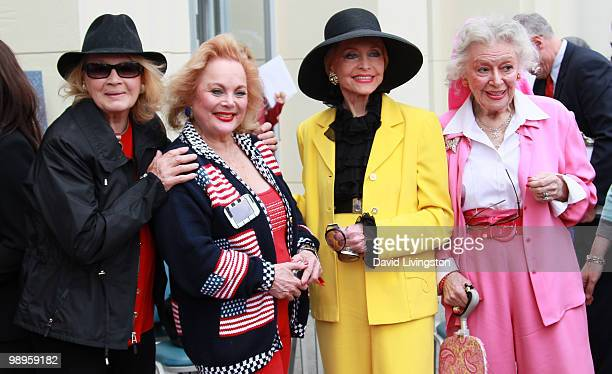 Actress Angie Dickinson singer/songwriter Carol Connors and actresses Anne Jeffreys and Ann Rutherford attend the Johnny Grant post office dedication...