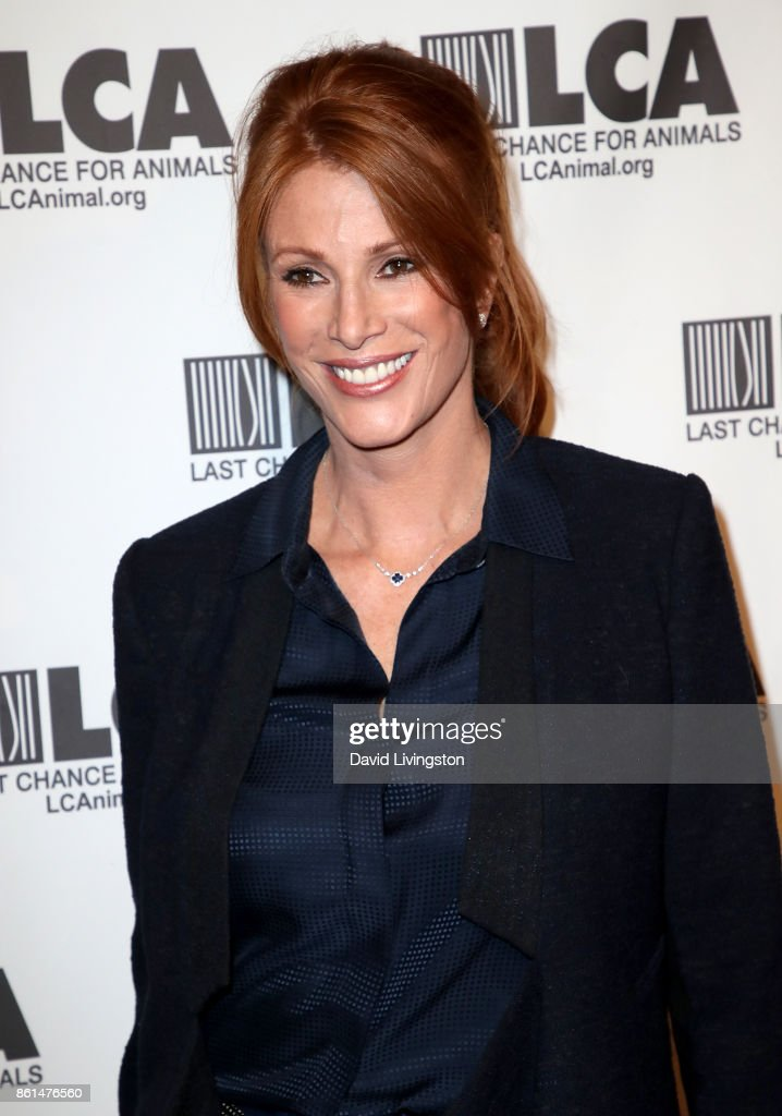Actress Angie Everhart attends Last Chance for Animals 33rd Annual Celebrity Benefit Gala at The Beverly Hilton Hotel on October 14, 2017 in Beverly Hills, California.