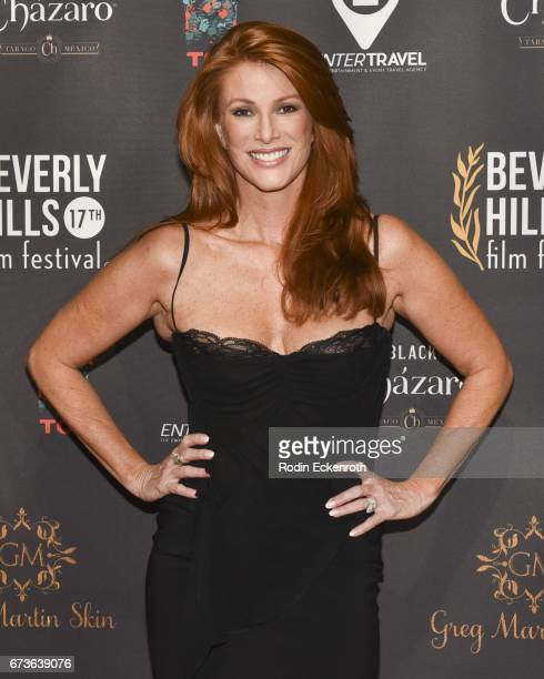 Actress Angie Everhart attends 'Model Citizen' showing at the 17th Annual Beverly Hills Film Festival Opening Night at TCL Chinese 6 Theatres on...