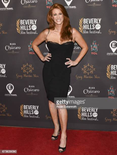 Actress Angie Everhart attends Model Citizen showing at the 17th Annual Beverly Hills Film Festival Opening Night at TCL Chinese 6 Theatres on April...