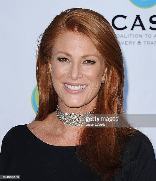 Actress Angie Everhart attends the 16th From Slavery to Freedom gala at Skirball Cultural Center on May 29, 2014 in Los Angeles, California.