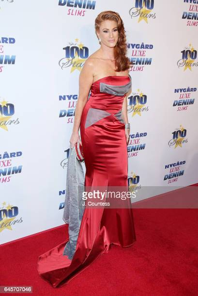 Actress Angie Everhart attends The 27th Annual Night Of 100 Stars Black Tie Dinner Viewing Gala at the Beverly Hilton Hotel on February 26 2017 in...