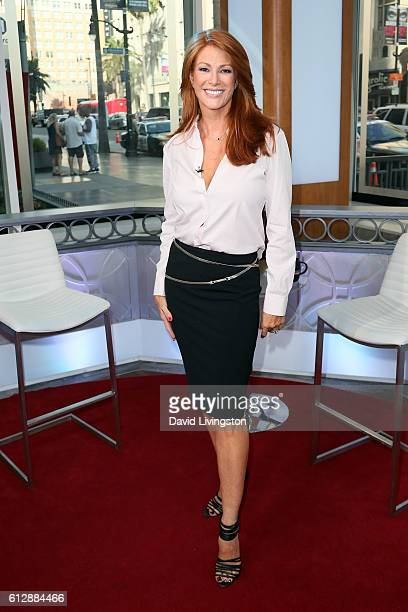 Actress Angie Everhart visits Hollywood Today Live at W Hollywood on October 5 2016 in Hollywood California