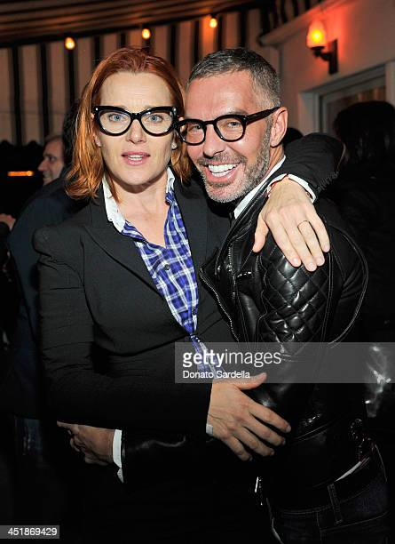 23c3b899ab38 Actress Angie Featherstone and designer Dean Caten attend a private dinner  in honor of Jennifer Lopez