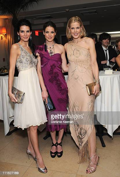 Actress Angie Harmon Actress Michelle Monaghan and Stylist Mary Alice Stephenson attend the LEIBER 45TH Anniversary Celebration with Swarovksi at the...