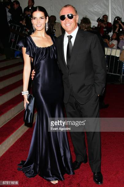 Actress Angie Harmon and designer Michael Kors attend the Metropolitan Museum of Art Costume Institute Benefit Gala Anglomania at the Metropolitan...
