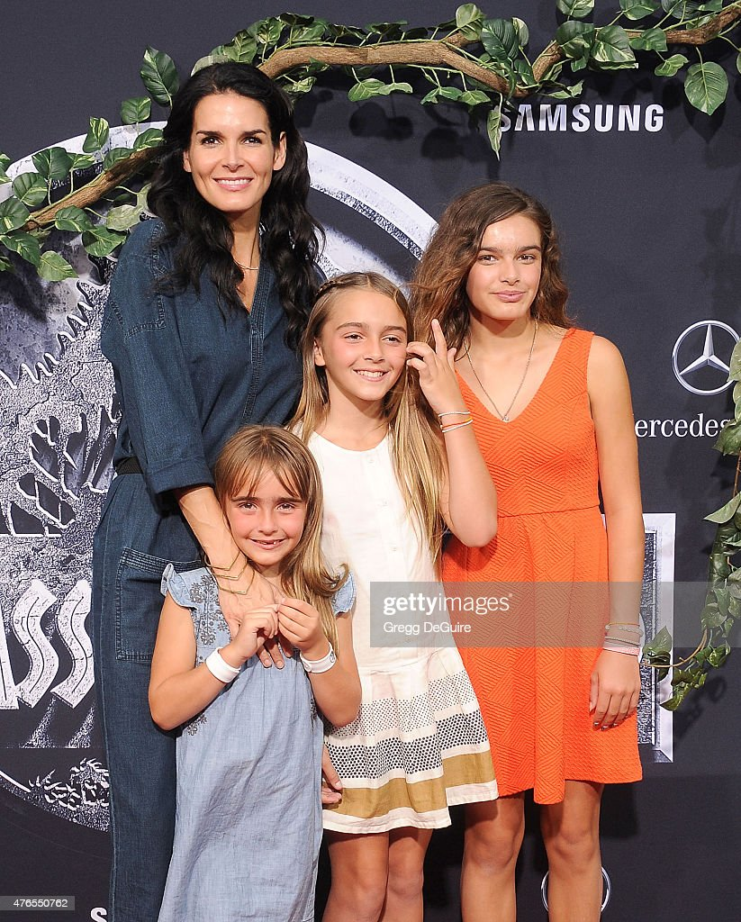 Actress Angie Harmon and family arrive at the World Premiere of 'Jurassic World' at Dolby Theatre on June 9, 2015 in Hollywood, California.