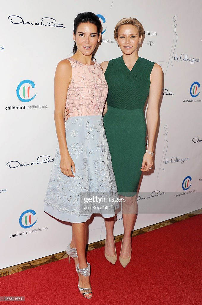 Actress Angie Harmon and her serene highness, Princess Charlene of Monaco attends The Colleagues' 26th Annual Spring Luncheon at Regent Beverly Wilshire Hotel on April 29, 2014 in Beverly Hills, California.
