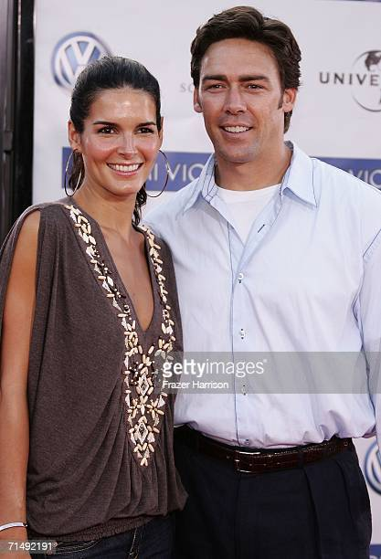 Actress Angie Harmon and husband NFL player Jason Sehorn arrive at the Universal Pictures premiere of Miami Vice held at the Mann's Village Theatre...