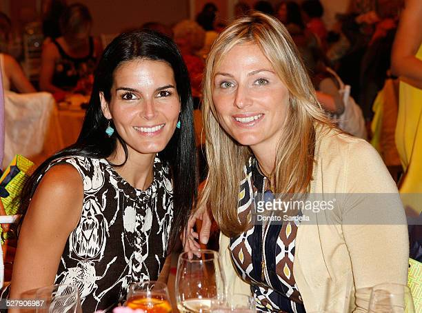 Actress Angie Harmon and Jamie Tisch attend The CHIPS Spring Luncheon and Fashion Show Honoring Tory Burch at the Beverly Hills Hotel on May 9 2008...