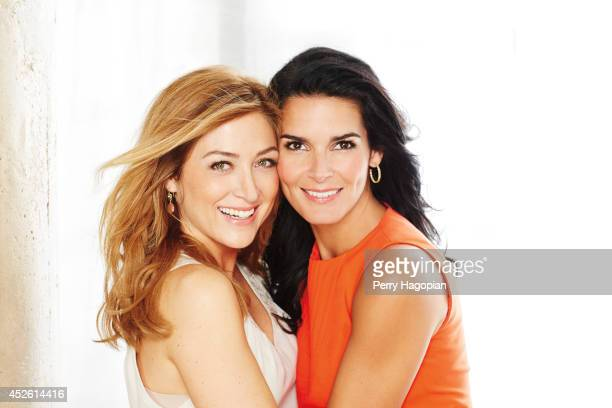 Actress Angie Harmon and Sasha Alexander are photographed for TV Guide Magazine on May 14, 2013 in New York City. COVER IMAGE.