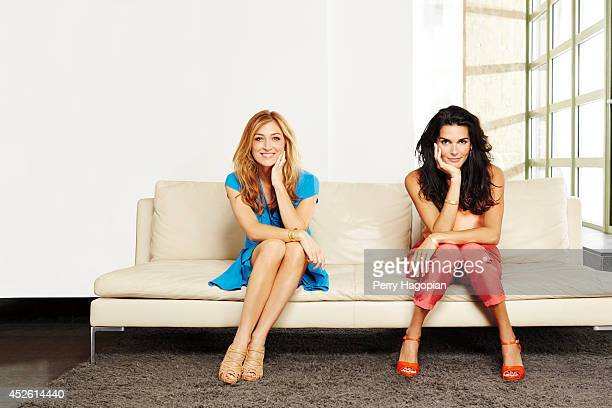 Actress Angie Harmon and Sasha Alexander are photographed for TV Guide Magazine on May 14, 2013 in New York City. PUBLISHED IMAGE.