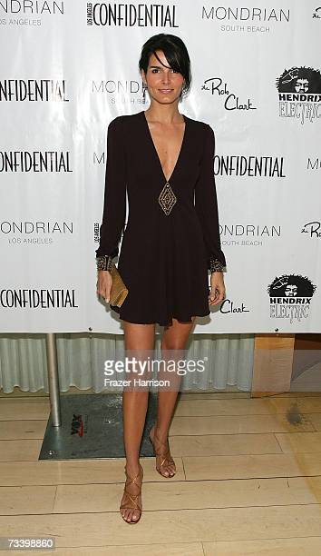 Actress Angie Harmon arrives at LA Confidential Magazine's annual Oscar Party held at the Skybar at Mondrian on February 22 2006 in HollywoodCA