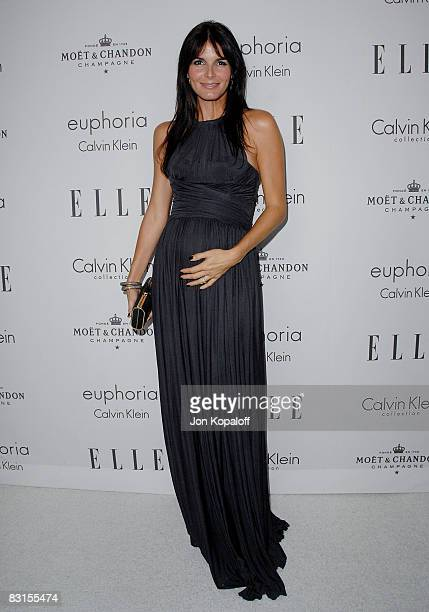 """Actress Angie Harmon arrives at """"Elle Magazine's 15th Annual Women in Hollywood Tribute"""" at the Four Seasons Hotel on October 6, 2008 in Beverly..."""