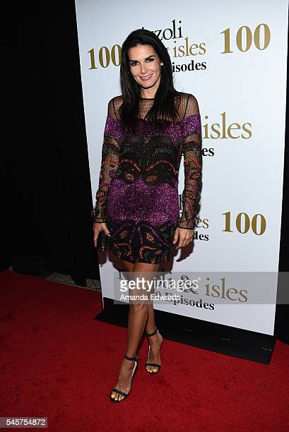 """Actress Angie Harmon arrives at the 100 Episode Celebration of TNT's """"Rizzoli and Isles"""" at Cicada on July 9, 2016 in Los Angeles, California."""