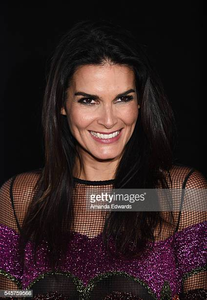 Actress Angie Harmon arrives at the 100 Episode Celebration of TNT's 'Rizzoli and Isles' at Cicada on July 9 2016 in Los Angeles California