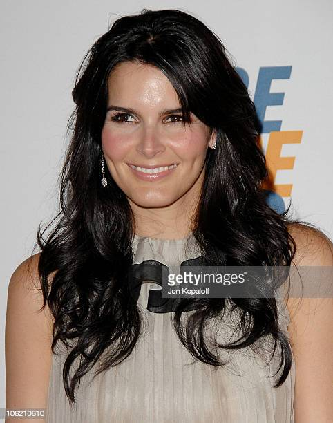 """Actress Angie Harmon arrives at the 16th Annual Race to Erase MS Event - """"Rock to Erase MS"""" at the Hyatt Regency Century Plaza Hotel on May 8, 2009..."""