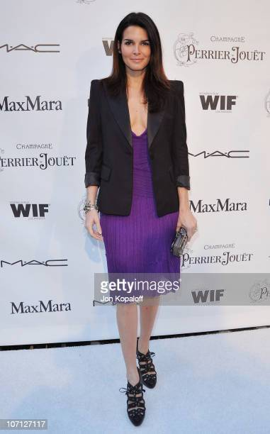 Actress Angie Harmon arrives at the 3rd Annual Women In Film PreOscar Party at a private residence on March 4 2010 in Los Angeles California