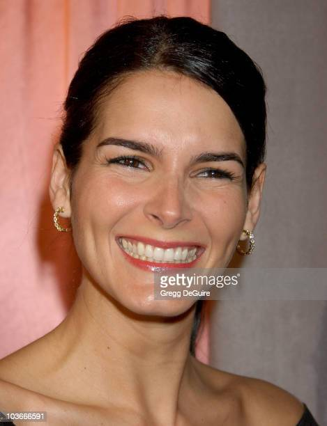 Actress Angie Harmon arrives at the 7th Annual Awards Season Diamond Fashion Show Preview at the Beverly Hills Hotel on January 10, 2008 in Beverly...